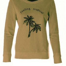 K-Design N352 sweater ronde hals ' feeling tropical ', LAATSTE STUKS: S & M